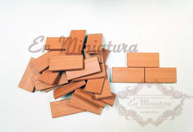 Ladrillo para tabiques de maquetas - Bolsa de 25 ladrillos de tabique