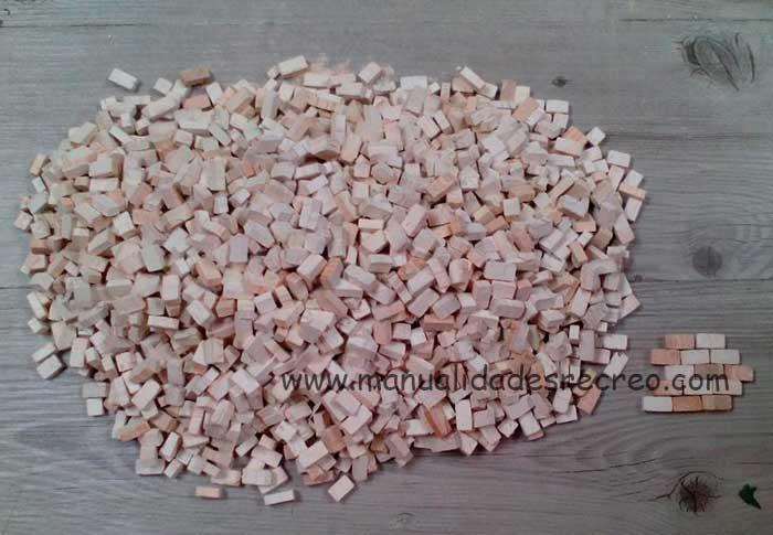 Caja de piedras para maquetas 2000 unidades - Caja grande de ladrillos para maquetas