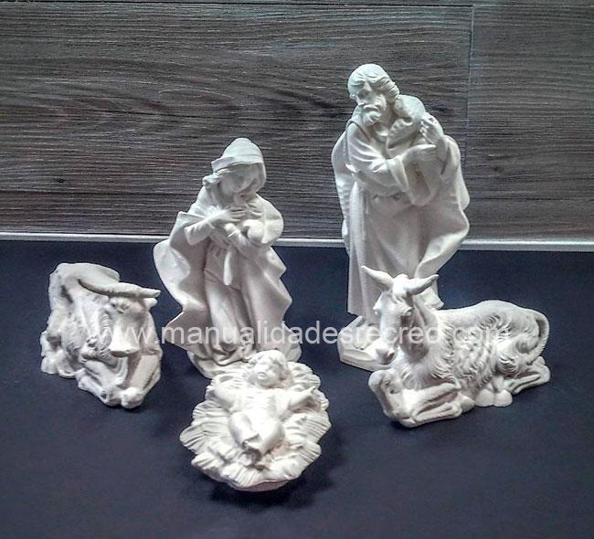 Belen 5 piezas marmolina 18cm - Belenes en marmolina de 18cm de altura