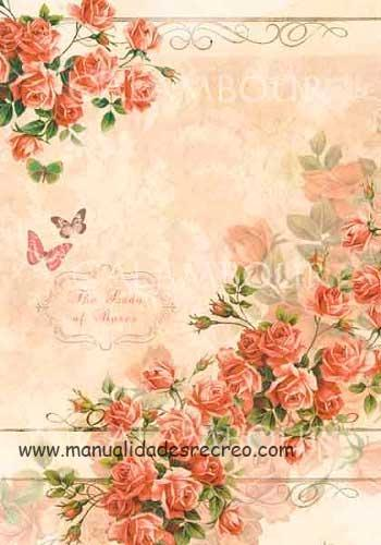 Papel de arroz The Lady roses