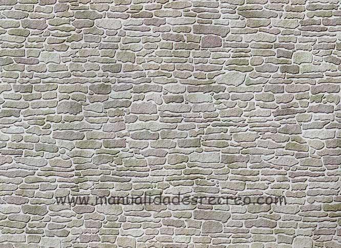 Papel de imitación a piedra o suelo empedrado - Lámina de papel de imitación muro de piedra
