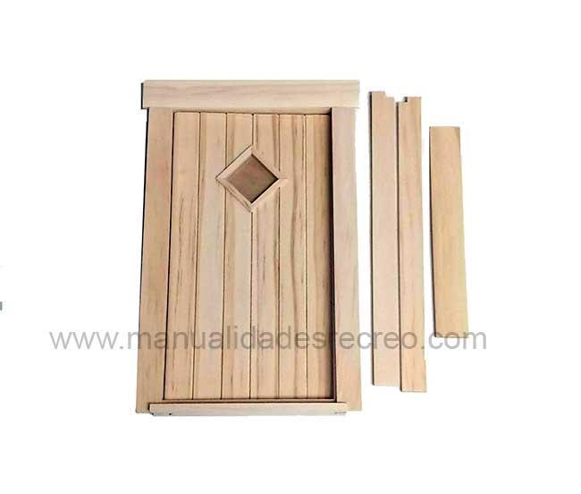 Puerta ratón Pérez 9251 - Puerta en madera natural para decorar