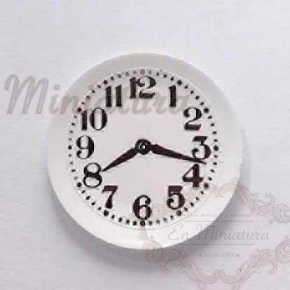 Reloj de cocina - Plato en miniatura con reloj
