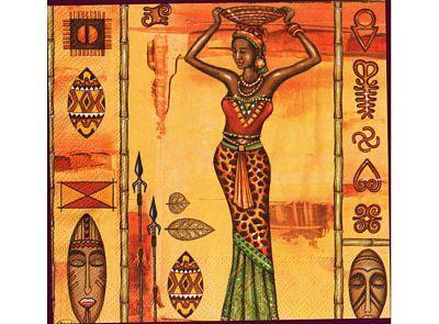 Paquete de servilletas, Africanas - Paquete de servilletas decorativas, Africanas