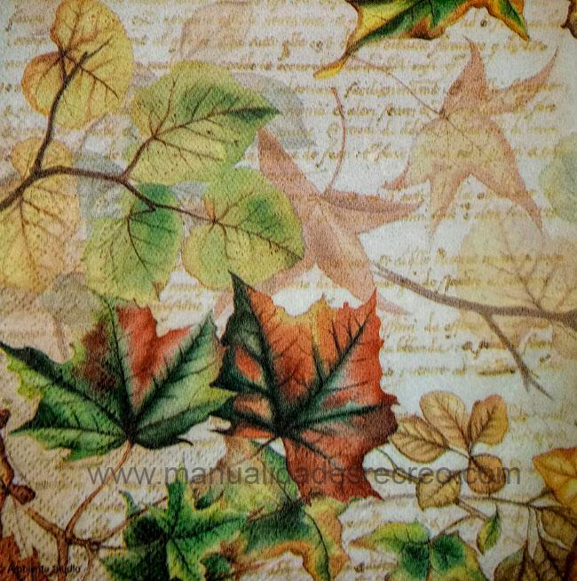Paquete de servilletas, Hojas de otoño - Paquete de servilletas decorativas, Hojas de otoño
