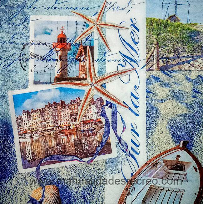 Paquete de servilletas Marinera - Paquete de servilletas decorativas, Marinera