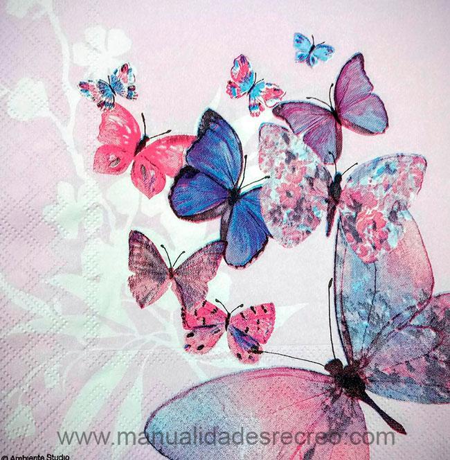 Paquete de servilletas Mariposas - Paquete de servilletas decorativas, Mariposas
