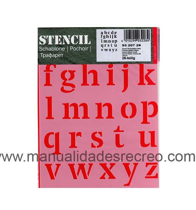 Plantilla starcir, Letras 20 x 15 - Plantilla starcido tamaño 20 x 15, Letras