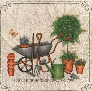 Servilletas para manualidades con motivo de jardiner a - Manualidades de jardineria ...